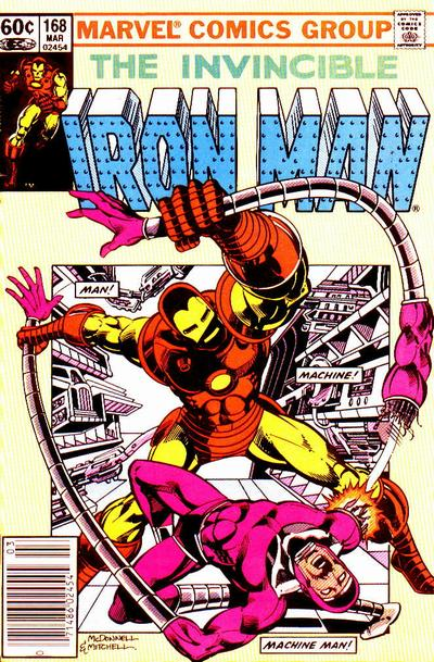 Cover for Iron Man (Marvel, 1968 series) #168 [Direct Edition]