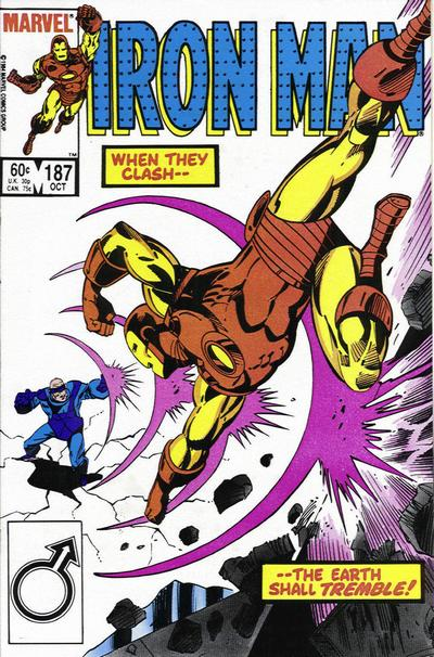Cover for Iron Man (1968 series) #187 [Canadian price variant]