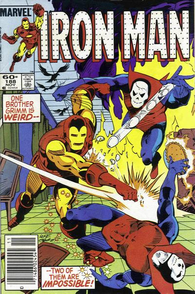 Cover for Iron Man (1968 series) #188 [Newsstand Edition]