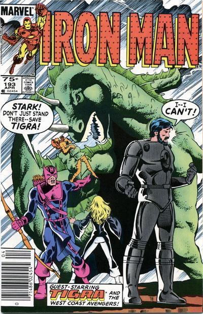Cover for Iron Man (1968 series) #193 [Canadian price variant]