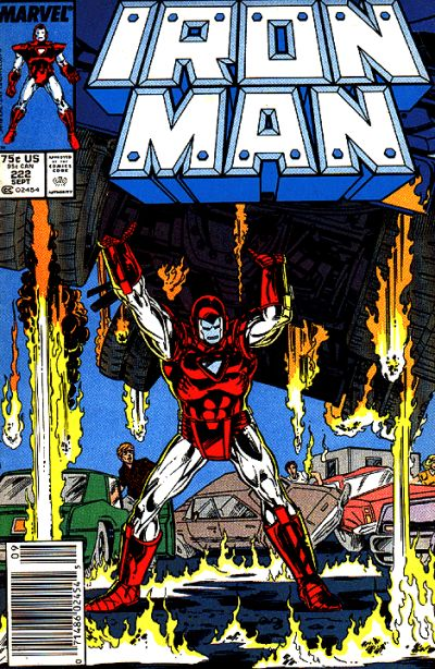 Cover for Iron Man (Marvel, 1968 series) #222 [Direct Edition]