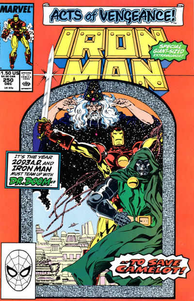 Cover for Iron Man (Marvel, 1968 series) #250 [Newsstand]