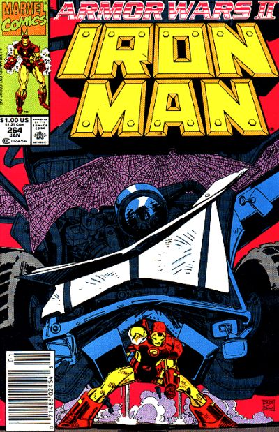 Cover for Iron Man (Marvel, 1968 series) #264 [Direct Edition]