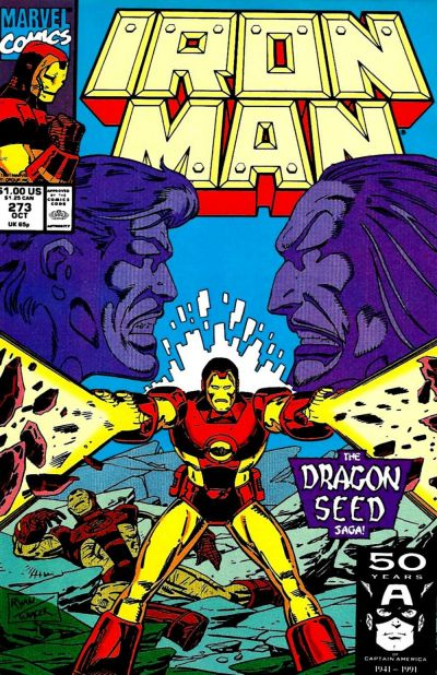 Cover for Iron Man (1968 series) #273 [Newsstand Edition]