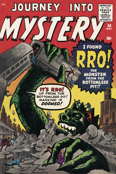 Cover for Journey into Mystery (Marvel, 1952 series) #58 [UK edition]