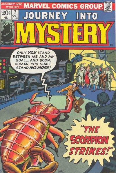 Cover for Journey into Mystery (Marvel, 1972 series) #7