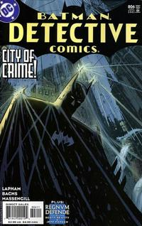 Cover Thumbnail for Detective Comics (DC, 1937 series) #806