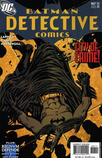 Cover for Detective Comics (1937 series) #807