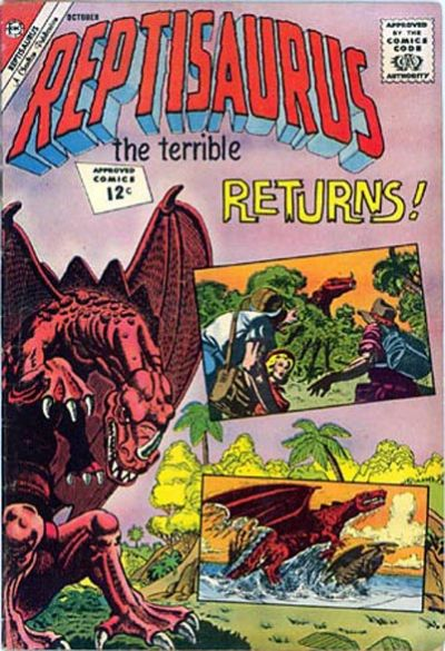 Cover for Reptisaurus (Charlton, 1962 series) #7