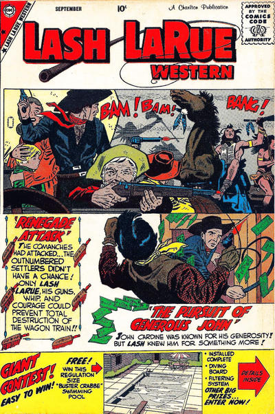 Cover for Lash Larue Western (Charlton, 1954 series) #74