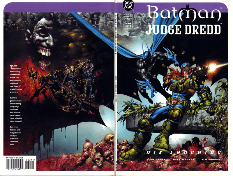 Cover for Batman / Judge Dredd: Die Laughing (DC, 1998 series) #2