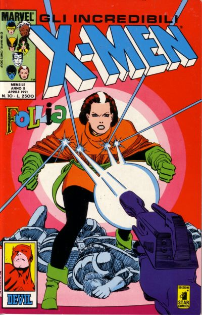 Cover for Gli Incredibili X-Men (Edizioni Star Comics, 1990 series) #10