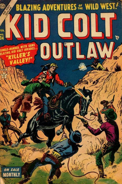 Cover for Kid Colt Outlaw (Marvel, 1949 series) #34