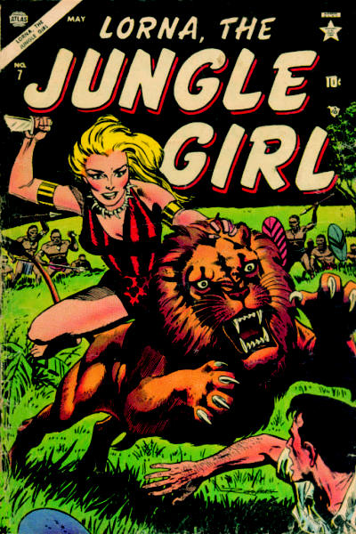 Cover for Lorna the Jungle Girl (Marvel, 1954 series) #7