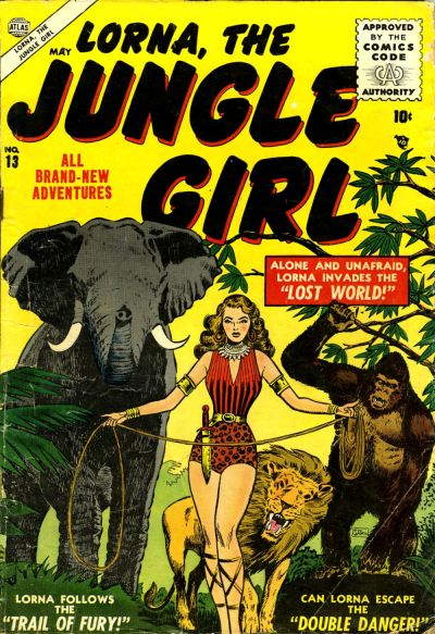 Cover for Lorna the Jungle Girl (Marvel, 1954 series) #13