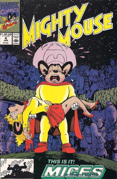 Cover for Mighty Mouse (Marvel, 1990 series) #4