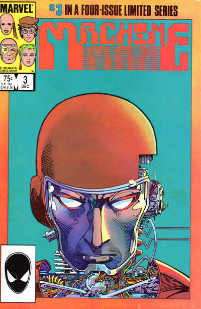 Cover for Machine Man (Marvel, 1984 series) #3 [Direct]