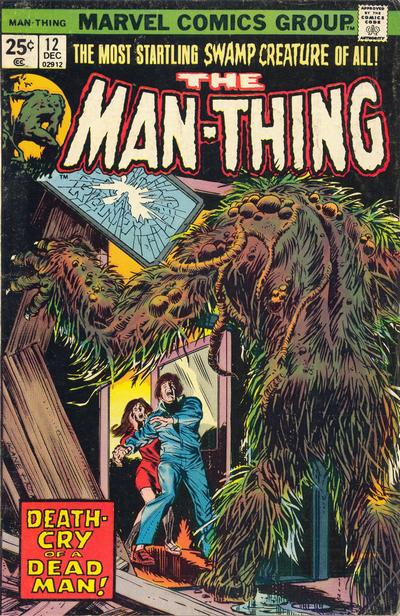 Cover for Man-Thing (Marvel, 1974 series) #12