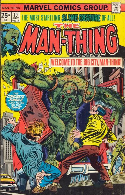 Cover for Man-Thing (Marvel, 1974 series) #19
