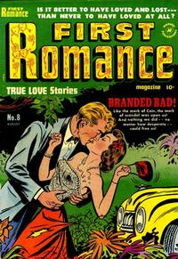 Cover Thumbnail for First Romance Magazine (Harvey, 1949 series) #8