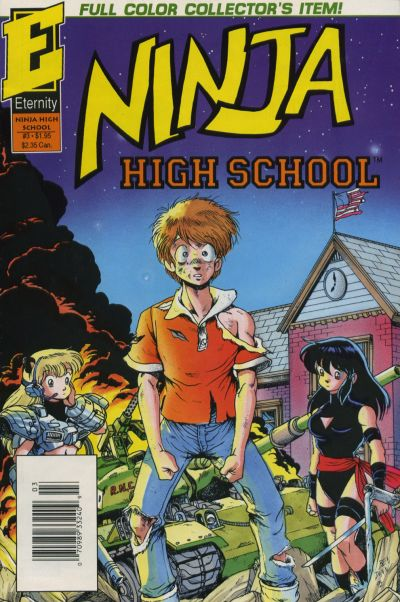 Cover for Ninja High School In Color (Malibu, 1992 series) #3