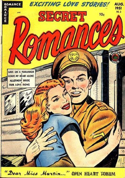 Cover for Secret Romances (1951 series) #3