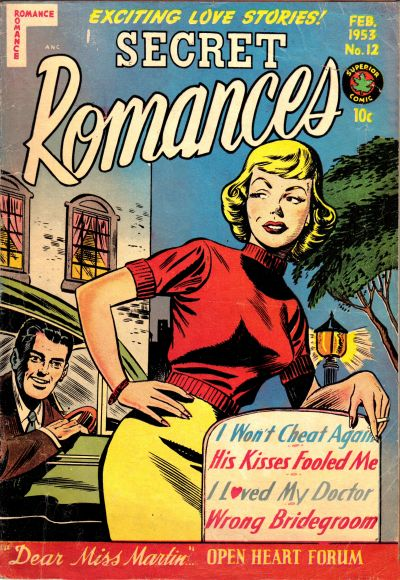 Cover for Secret Romances (Superior Publishers Limited, 1951 series) #12