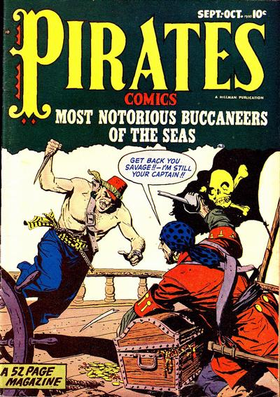 Cover for Pirates Comics (1950 series) #4