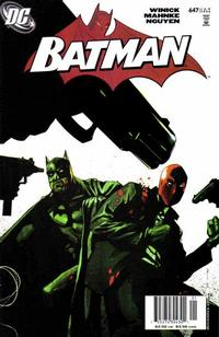 Cover for Batman (DC, 1940 series) #647 [Direct]