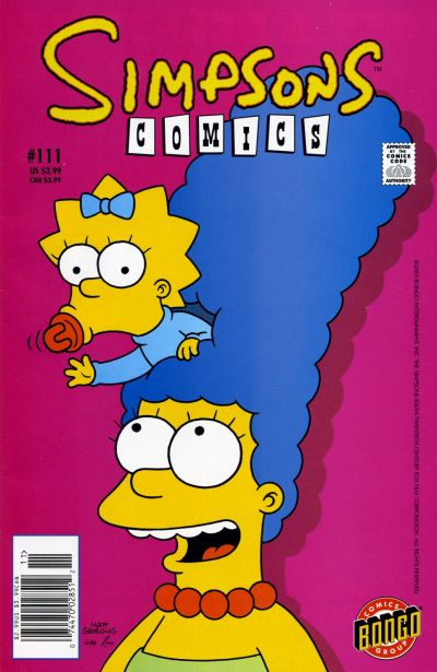Cover for Simpsons Comics (Bongo, 1993 series) #111