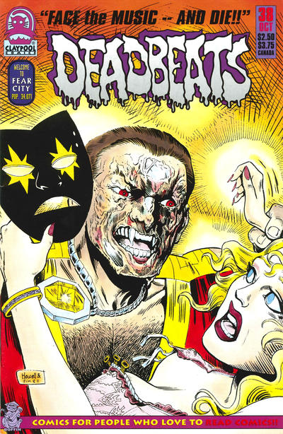 Cover for Deadbeats (Claypool Comics, 1993 series) #38