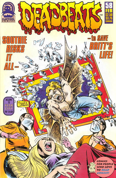 Cover for Deadbeats (Claypool Comics, 1993 series) #58