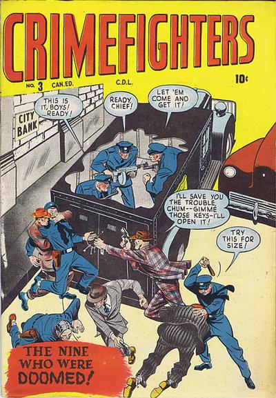 Cover for Crimefighters Comics (Bell Features, 1948 series) #3