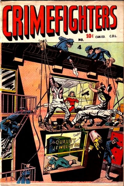 Cover for Crimefighters Comics (Bell Features, 1948 series) #4