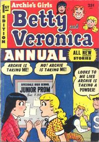 Cover Thumbnail for Archie's Girls, Betty and Veronica Annual (Archie, 1953 series) #1