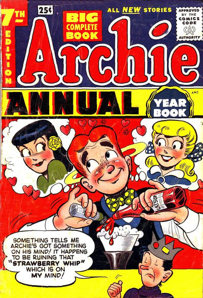 Cover for Archie Annual (1950 series) #7