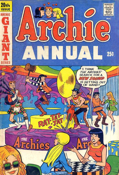 Cover for Archie Annual (Archie, 1950 series) #20