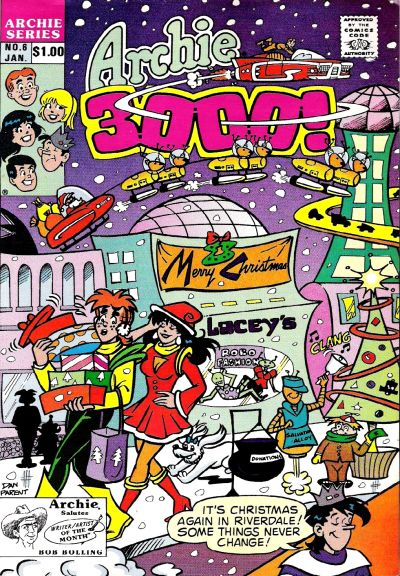 Cover for Archie 3000 (Archie, 1989 series) #6 [Direct]