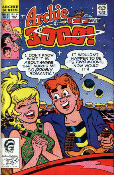 Cover for Archie 3000 (Archie, 1989 series) #9 [Direct]