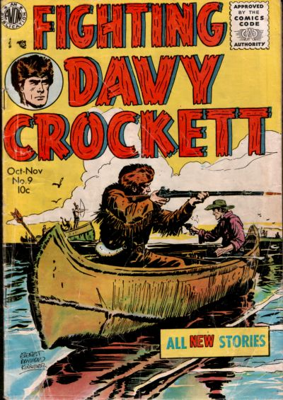 Cover for Fighting Davy Crockett (Avon, 1955 series) #9