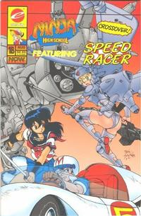Cover for Ninja High School featuring Speed Racer (Malibu, 1993 series) #1 (B)