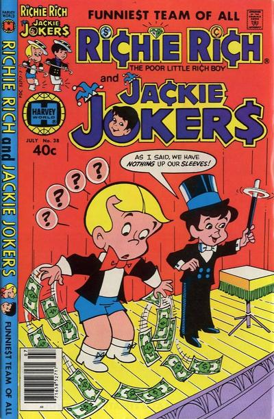 Cover for Richie Rich & Jackie Jokers (Harvey, 1973 series) #38