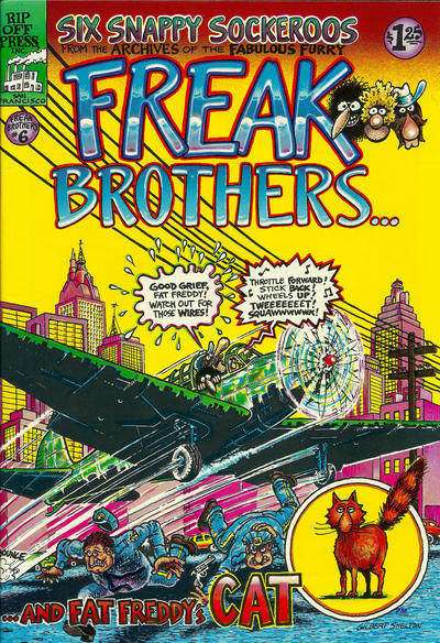 Cover for The Fabulous Furry Freak Brothers (1971 series) #6 [3.95 USD 8th print]