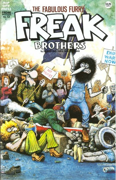 Cover for The Fabulous Furry Freak Brothers (Rip Off Press, 1971 series) #13 [3.95 USD 2nd print]