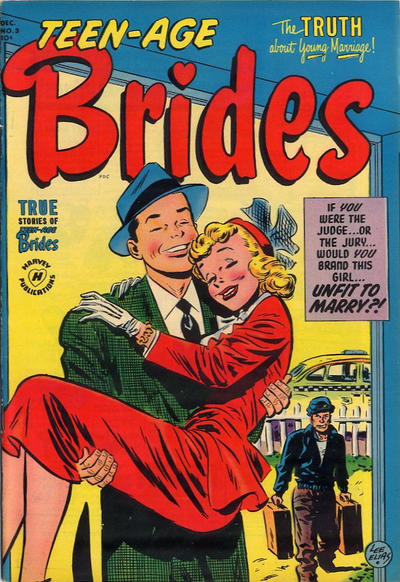 Cover for Teen-Age Brides (Harvey, 1953 series) #3