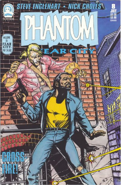 Cover for Phantom of Fear City (Claypool Comics, 1993 series) #8