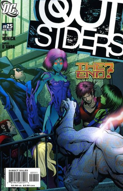 Cover for Outsiders (DC, 2003 series) #25