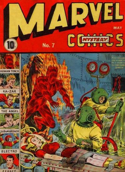 Cover for Marvel Mystery Comics (Marvel, 1939 series) #7