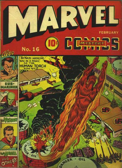 Cover for Marvel Mystery Comics (Marvel, 1939 series) #16