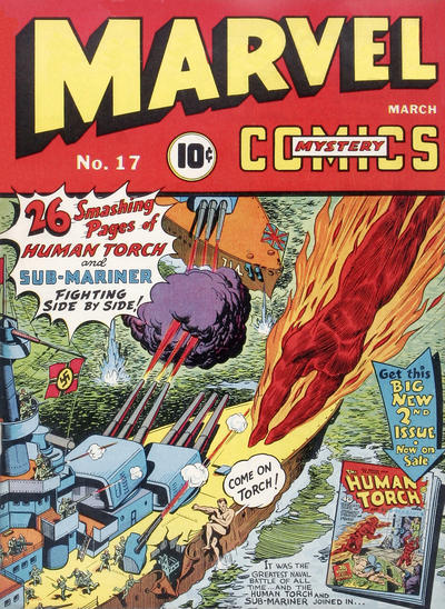 Cover for Marvel Mystery Comics (Marvel, 1939 series) #17